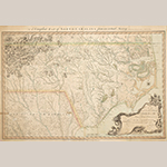 "Fig. 2: ""A compleat map of North-Carolina from an actual survey…,"" John Collett (surveyor), John Bayly (engraver), Samuel Hooper (printer), 1770, London, England. Paper on ink; HOA: 70 cm, WOA: 107 cm. Library of Congress, Geography and Map Division, Washington, DC, G3900 1770 .C6 Vault. Online: http://www.loc.gov/item/83693769/ (accessed 27 May 2014)."
