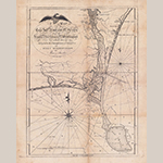 "Fig. 9: ""A map of Cape Fear River and its vicinity from the Frying Pan Shoals to Wilmington...,"" Jonathan Price and John Strother (surveyors), William Barker (engraver), 1798, Philadelphia, PA. Ink on paper; HOA: 47.6 cm, WOA: 35.2 cm. North Carolina State Archives, MC.167.C237.1807ps. Online: http://dc.lib.unc.edu/cdm/ref/collection/ncmaps/id/5348 (accessed 27 May 2014)."