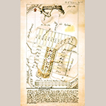 Fig. 3: Plan of Bethania, North Carolina, surveyed and drawn by Christian Gottlieb Reuter, 1759, Wachovia Area, NC. Ink and watercolor on paper. Collection of the Moravian Archives, Northern Province, Bethlehem, PA, MESDA Object Database file S-1657.