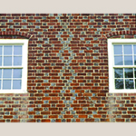 Fig. 26: Decorative brickwork attributed to William Craig seen on the west side of the Salem Boys' School (1794).