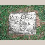Fig. 37: Grave marker of Peter Oliver, ca. 1810, God's Acre, Salem, NC.