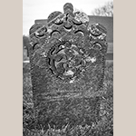 Fig. 18: Gravestone of Jacob Clodfelter, ca. 1837, Bethany United Church of Christ Graveyard, Midway, Davidson Co., NC. MESDA Object Database file D-32542.