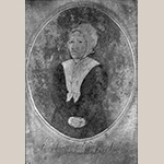 "Fig. 29: Portrait of Elizabeth Henkel on an engraved plate for the Henkel Press, unknown artist, ca. 1810, New Market, Shenandoah Co., VA. Copper; HOA: 4-3/4"", WOA: 3-1/4"". MESDA Collection, Acc. 5550.4b."