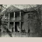 Fig. 123: Early photograph of Dr. William Dobson's House, ca. 1890, Davidson Co., NC (original site). Courtesy of house's current owner.
