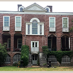 Fig. 7. Rear elevation of the Miles Brewton House, Charleston, South Carolina. Photograph by the author.