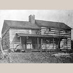 Fig. 50: Log house built c. 1796 by Thomas Hall (1758-1833) on the north side of Black Oak Ridge, Knox County, Tennessee. Collection of the Calvin M. McClung Historical Collection, Knox County Public Library, Knoxville, Tennessee.