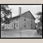 Fig. 4: Hopewell Friends Meeting House, built ca.1759 to replace the original log structure that burned in 1757, Frederick Co., VA; photograph by Frances Benjamin Johnston, 1930–1940. Collection of the Library of Congress, Prints and Photographs Division, Carnegie Survey of the Architecture of the South, LC-J7-VA-C3105 [P&P], Washington, DC.