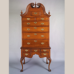 "Fig. 7: High chest of drawers by Seth Pancoast (1718–1792), 1766, Marple Township, Chester Co. (now Delaware Co.), PA. Maple with tulip poplar and chestnut; HOA: 95"", WOA: 41-5/6"", DOA: 22-3/8"". Collection of the Winterthur Museum, Acc. 2015.0021.001. Bequest of John J. Snyder Jr."