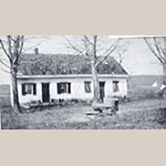 Fig. 11: Upper Ridge Meeting House, 1791 (destroyed by fire in the 20th century), Apple Pie Ridge, north of Winchester, VA; unknown photographer, ca.1900. Collection of the Stewart Bell Jr. Archives, Walker Bond Family Papers, Winchester-Frederick County Historical Society Collection, no. 163-38 wfchs, Handley Regional Library, Winchester, VA.