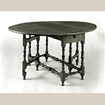 """Fig. 17: Table, 1700–1730, New England. Walnut; HOA: 27"""", WOA: 55-1/2"""", DOA: 44-3/4"""". Collection of the Metropolitan Museum of Art, Acc. 10.125.125. Gift of Mrs. Russell Sage, 1909."""