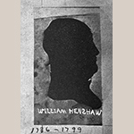 """Fig. 70: Profile portrait of Captain William S. Henshaw (1736–1799). Illustrated in Miss Valley Virginia Henshaw, """"The Henshaw Family,"""" West Virginia Historical Magazine Quarterly, vol. 4, no. 2 (April 1904): 162."""