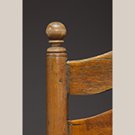 Fig. 80: Detail of the ball finial and paint remnants on the chair illustrated in Fig. 75.