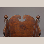 Fig. 86: Detail of the headboard and ball finials on the cradle illustrated in Fig. 85.