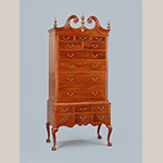 """Fig. 112: High chest of drawers, ca.1795, Winchester, Virginia. Cherry with yellow pine; HOA: 97"""", WOA: 44"""", DOA: 24-1/4"""". Collection of the Colonial Williamsburg Foundation, Acc. 1973-325."""