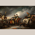 "Fig. 6: ""The Capture of the Hessians at Trenton, December 26, 1776"" by John Trumbull (1756–1843), 1786–1828. Oil on canvas; HOA: 20-1/8"", WOA: 30"". Collection of Yale University Art Gallery (New Haven, CT), Acc. 1832.5."