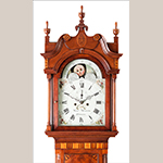 Fig. 4: Detail of clock illustrated in Fig. 3; Photograph by Dennis McWaters.