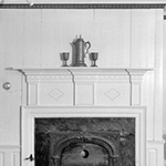Fig. 18: View of the parlor mantel, Alexander Campbell Mansion, Bethany, WV. Historic Buildings Survey, HABS WVA, 5-BETH,1A-7, Library of Congress, Washington, DC; available online: http://hdl.loc.gov/loc.pnp/hhh.wv0058/photos.173958p (accessed 28 August 2019).