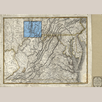 "Fig. 1: ""A New Map of Virginia with Maryland, Delaware & v.,"" drawn by Samuel Lewis (1753/54–1822), engraved by William Hooker (1782–1856), and published by T. L. Plowman, 1814, Philadelphia, PA. Ink on paper with watercolor; HOA: 20-2/3"", WOA: 26-3/4"". Library of Congress Geography and Map Division, G3790 1814.L4, Washington, DC; available online: https://www.loc.gov/item/2008621667/ (accessed 28 August 2019)."