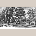 "Fig. 15: ""Bethany Mansion—Homestead of Alexander Campbell House,"" published in Selina Huntington Campbell, ""Home life and reminiscences of Alexander Campbell. By his wife, Selina Huntington Campbell"" (St. Louis, MO: J. Burns Publishing, 1882), plate between pp. 48 and 49."