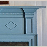 Fig. 19: Detail of parlor mantel, Alexander Campbell Mansion, Bethany, WV; Photograph by Sharon Monigold.