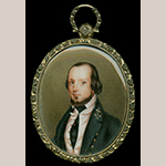 "Fig. 4: Miniature portrait of Matthew Fontaine Maury (1806–1873) by George W. L. Ladd, 1829–1834. Inscribed in pencil on paper backing: ""G.W. Ladd pinxt."" Oil on ivory; HOA: 2"", WOA: 2-1/2"". Collection of The Mariner's Museum and Park, Newport News, VA, Acc. 1934.1425.000001."
