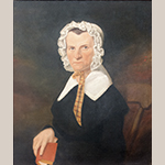 "Fig. 12: Portrait of Mary Meador (dates unknown) by George W. L. Ladd, 1844. Oil on canvas; HOA: 32"", WOA: 27"". Collection of the Fairfield County Museum, Winnsboro, SC."
