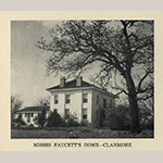 "Fig. 16: Clanmore, completed in 1845 by John Christopher Columbus Feaster (1819–1899), Fairfield County, SC. Image reproduced from ""Our Heritage,"" a guidebook of Fairfield County homes, circa 1949, p. 28."