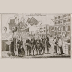 Fig. 3: The Repeal, or the Funeral of Miss Ame-Stamp, 1766. Prints and Photographs Division, Library of Congress.