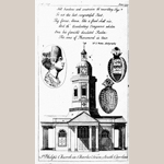 "Fig. 20: Image of St. Philip's Church (1723-1835) printed in Gentleman's Magazine; unknown artist; London, England; 1753. Ink on paper; HOA: 7-3/4"", WOA: 4-1/2"". Private collection; MRF 2034."