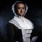 "Fig. 24: Mrs. Daniel Cannon (Mary Trusler Doughty) by Jeremiah Theus; Charleston, SC; ca. 1770. Oil on canvas; HOA: 30"", WOA: 25-1/8"". Private collection; MRF 8195."