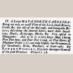 Fig. 5: Advertisement for the published Moseley map; 9 September 1737; Virginia Gazette; Williamsburg, VA.