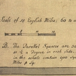 Fig. 12: Detail of the note about determining square miles on the Moseley-Cowley manuscript map (Figure 1).