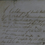 Fig 20: Detail of the heading from the inventory of Arthur Dobbs's library. Dobbs Papers (D162), Public Record Office of Northern Ireland (PRONI).