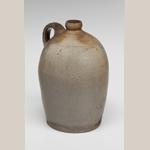 "Fig. 10: Jug stamped ""J.P. GRINSTEAD"" (John Parker Grinstead [w.1837–c.1860]), Waco, KY, c. 1837–1860. Stoneware; HOA: 11"". MESDA Acc. 5630.1."