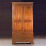 """Fig 4: Scrutoire; probably Norfolk, Virginia; 1760-1770. Walnut with unrecorded secondary woods; HOA: 90-3/4"""", WOA: 48"""", DOA: 21"""". Private collection; sold by Sloan's Auctioneers & Appraisers, September 20-21, 2002 (lot 908); photograph courtesy of Sloan's Auctioneers & Appraisers."""