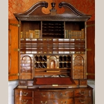 Fig. 7: Interior of the bureau cabinet presented in Fig. 6.