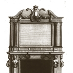 "Fig. 18: Chimneypiece for His Majesty's drawing room at Greenwich, from Inigo Jones and William Kent, ""Some Designs of Mr. Inigo Jones and Mr. Wm. Kent (London: John Vardy, 1744)."