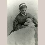 "Fig. 3: ""Aunt Lizzie"" and child by the Lee Photo Gallery, Richmond, VA, c.1863. Cartes de visite. Collection of the Valentine Richmond History Center, acc. 51.1.1."