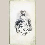 Fig. 4: Kate Marschall English [Baby] and Violet, unknown photographer, Kentucky, c.1870. Cartes de visite. Collection of the Kentucky Historical Society, Nicola Marschall Collection, 1987ph29.
