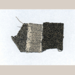 """Fig. 6: Fabric samples for """"Negro Cloth"""" included in an 1835 letter from Rowland G. Hazard to Isaac P. Hazard of the Peace Dale Mfg Co. Collection of the Rhode Island Historical Society."""