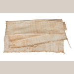 Fig. 7: Plantation-made Osnaburg by unnamed slaves of Mr. Mitchell King, South Carolina, c.1860. Cotton, hand spun and woven. Collection of the Museum of the Confederacy, acc. 0985.10.85.