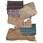 Fig. 8: Plantation-made fabric swatches by unnamed slaves of Mrs. J. J. McIver, Darlington, SC, 1861-1865. Cotton, hand woven. Collection of the Museum of the Confederacy, acc. 0985.10.25.