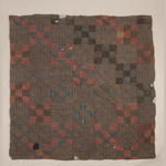 Fig. 10: Pieced quilt, by Martha and/or Sarah, two enslaved women owned by Philip and Mary Elizabeth Dryden Bushong, Stony Point, Sullivan County, TN, 1850-1870. Linen and wool (hand spun and woven; twill weaves; pieced and tied). Collection of Historic Crab Orchard Museum, Tazewell, VA.