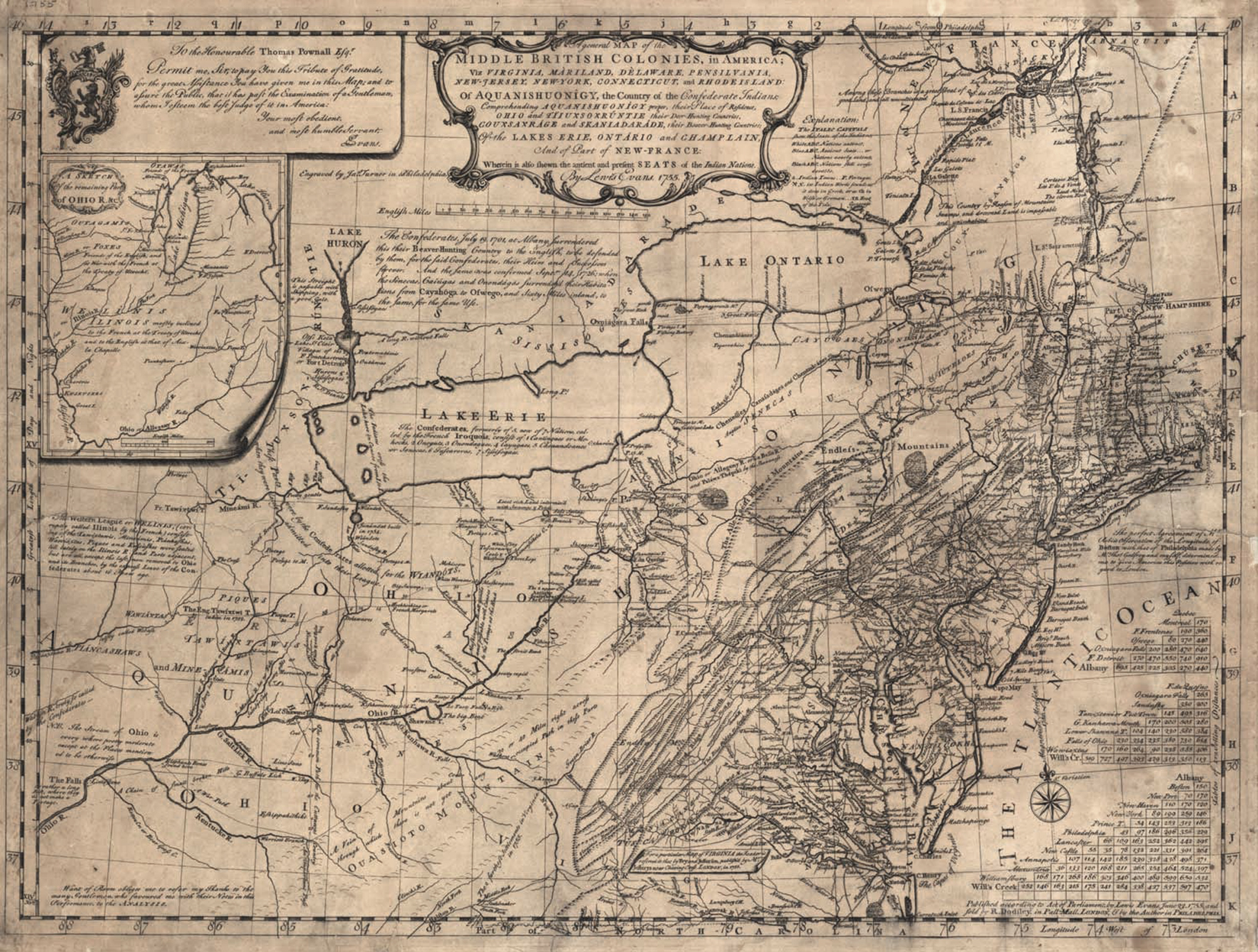 Fig 3 A General Map Of The Middle British Colonies In America