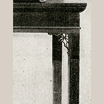 Fig. 17: Detail of sideboard table illustrated in Fig. 16.