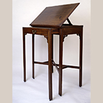 "Fig. 20: Reading table by George Donald, ca. 1770, Richmond, VA. Mahogany with yellow pine; HOA: 45-7/8"", WOA: 36"", DOA: 23"". Collection of the Thomas Jefferson Foundation, Acc. 1938-22. © Thomas Jefferson Foundation at Monticello."