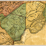 Fig. 4: Detail of the map in Fig. 3 showing Green Co., Washington Co., the Nolichucky River, and Horse Creek in Tennessee.