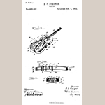 "Fig. 41: Daniel Forney Burgner's patent for ""VIOLIN."" Patent No. 483,897, Patented 4 October 1892, United States Patent Office, Washington, DC."