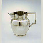 "Fig. 16: Pitcher marked by Asa Blanchard, 1810-1825, Lexington, KY. Silver; HOA: 6- 5/16"", WOA: 5-1/4"", DIA (at base): 3-5/8"". MESDA Acc. 4608, Given in honor of Mr. Frank L. Horton."