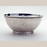 "Fig. 17: Bowl marked by Asa Blanchard, ca. 1810, Lexington, KY. Silver; HOA: 3"", DIA: 6-1/2"". Collection of the Kentucky Historical Society, Acc. 1999.79.19, Gift of Henry and Marion Wilson."